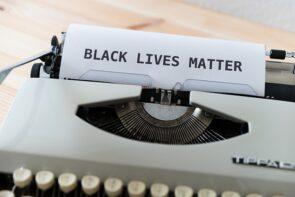 Black lives matter typewriter.